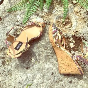 Theme | Silky tie-knot straps wedges Size 7